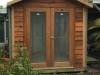 Cabana No.10 with double glass doors and cedar cladding
