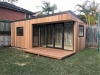 Espace Garden Room with black aluminium doors and windows