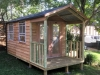 Porch Cabana No.10 with cedar cladding and additional doors and windows