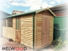 Workshed Design, No. 2654 in Cedar, cladding, add down pipes and gutters, extra windows