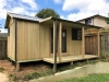 Verandah Cabana No.18 with custom verandah length, woodland grey roof gutters and downpipes