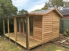 Verandah Cabana No.18 with cedar cladding and double doors + sidelights