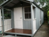 Porch Design No. 20, Change Double doors to single door, Upgrade to double hung windows, Board + Batten cladding, Pre-painted