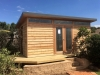 Mod Cabana No.18 with cedar cladding and double glass doors