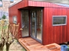 Espace 2000 in hardwood cladding, after painting by client