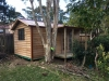 Verandah Cabana 18 with custom verandah length, cedar cladding + colonial doors