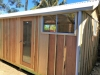 Verandah Design with glass door and additional sliding windows