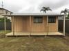 Verandah Design No.20 with solid timber door and sliding windows