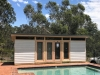 Melwood Mod Design Custom Size Pool Cabana  - Cedar upgrade, double doors & sidelights