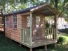 Porch Cabana No.10 with cedar cladding and additional doors and windows