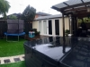 Verandah Design No. 20_No Verandah, paintwork & decking by client, Upgrade to double glass doors with sidelights, board + Batten