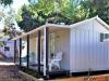 Verandah Design No. 20, DOuble Doors, Glass Doors, Board + Batten, Painted by client, Fitou by client