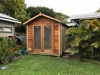 Cabana No.10 - cedar cladding, double doors and double doors with sidelights