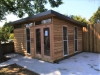 Mod Cabana 18. Cedar Cladding. Additional Doors & Windows. Installed onto client's concrete slab
