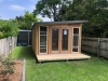 Mod Cabana No.21 in board & batten cladding, with double doors & 2x double hung windows