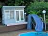 Mod Design, No. 12, Custom Cladding, Custom Windows, Double Glass Doors, Highlight Windows, No Deck, Pool Cabana,