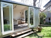 Cabana No.18 with double doors and sidelights, cedar cladding, extra set of double doors