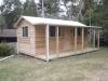 Verandah Design No. 20 with Cedar Upgrade, sliding windows and solid timber door