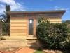 Mod Cabana No.18 with cedar cladding and double glass doors