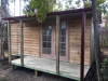 Verandah Cabana 18 with custom verandah length, cedar cladding + colonial doors