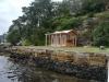 Verandah Cabana No.12 with cedar cladding, double doors & sidelights, added windows and custom bar
