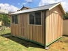 Workshed 3245 with timber door and two sliding aluminium windows