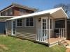 Porch Design No. 20 with colonial door upgrade, cedar upgrade and added window