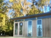 Mod Cabana No.18 with double glass doors and two double hung windows