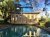 Mod Cabana No.20 with glass doors and sidelights to maximise pool views & sunlight
