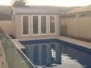 Pool Cabana - Verandah Cabana No Verandah with added glass sidelights
