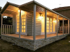 Combination of Verandah and Porch Cabana No.20. Cedar cladding. Double french doors. Decorated by client