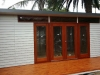 Mod Cabana 20 with double doors and sidelights and custom deck.JPG