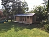 Verandah Cabana No.20 with cedar cladding, double doors and sidelights and an additional double doors.