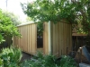 Workshed Design, No. 2654 in Board & Batten, cladding, add down pipes and gutters