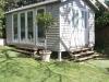 Veranda Design No. 18, no verandah, cedar upgrade after painting by client