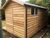 Verandah Cabana No.18 with cedar cladding and double doors + sidelights