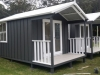 Porch Design, No. 12 with surfmist roof, painted woodland grey and white
