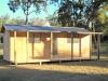 Verandah Design, Custom Size, with woodland grey roof, added standard window, Cedar Upgrade