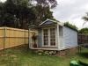 Porch Design No. 18, with custom porch roof, cedar upgrade, ten 10 light glass doors