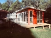 Mod Cabana No.20 with two sets of double doors, 3 mod double hung windows, 1 panorama window and custom extended decking