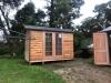 Workshop2036 in cedar with double glass doors