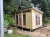 Mod Cabana No.18 with board & batten cladding, double doors and sidelights