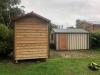 His & Hers Workshops: Workshop2036 in Cedar and Workshop 3254 in board & batten with timber door