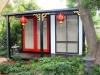 Verandah-Design-No. 12-as-an-oriental-teahouse-decor-and-paintwork-by-client-double-glass-doors-panorama-window