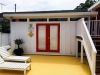 Mod Cabana No.19 with board and batten cladding and double glass doors