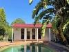 Verandah Cabana No.20 with cedar cladding, double doors and sidelights