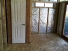 Internal wall and door for bathroom area