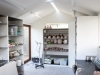 Fitout and shelving arranged by client. Pottery studio.