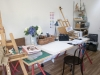 Fitout arranged by client for this stylish art studio