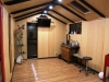internal after fitout by client - oriental style and feature beams2 in use as a bonsai studio.JPG